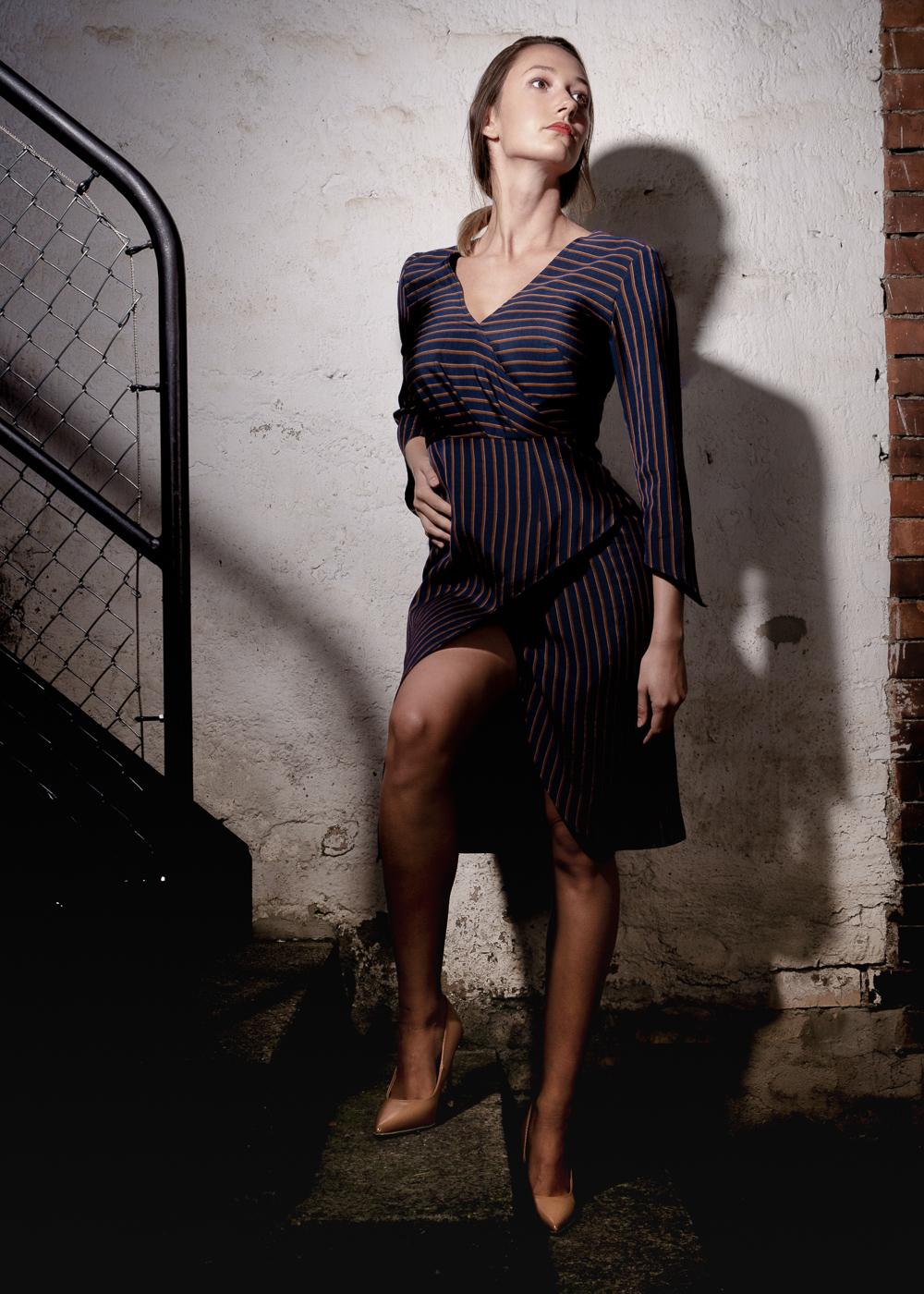 LOOK 4 Silk Plisse Maxi Skirt – Gold Crop Top