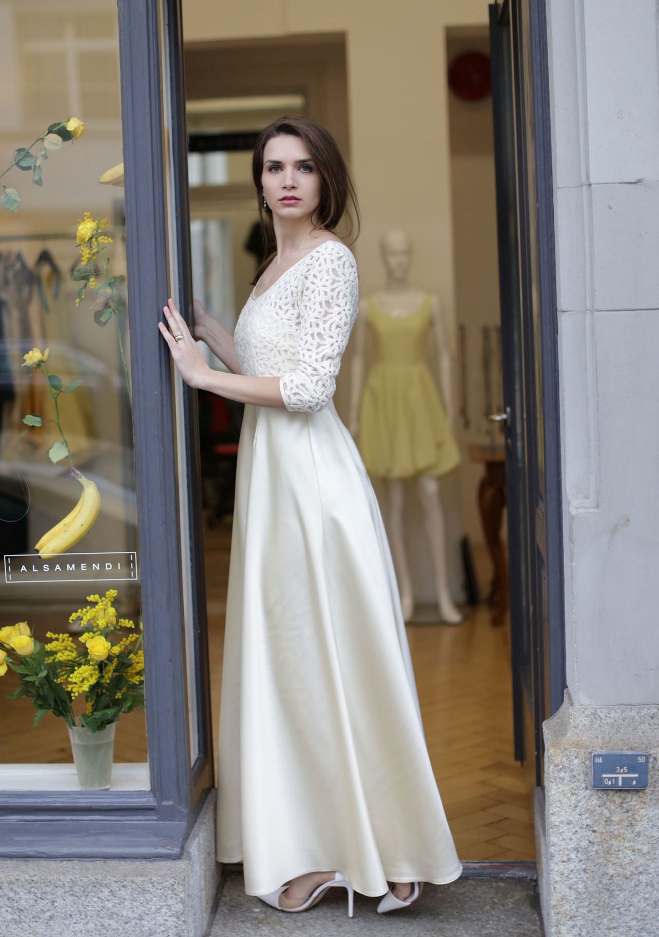 LOOK C.1.1 Wedding Dress - Evening Dress - Fashion Designer - Atelier Zürich - Tailor made Dresses