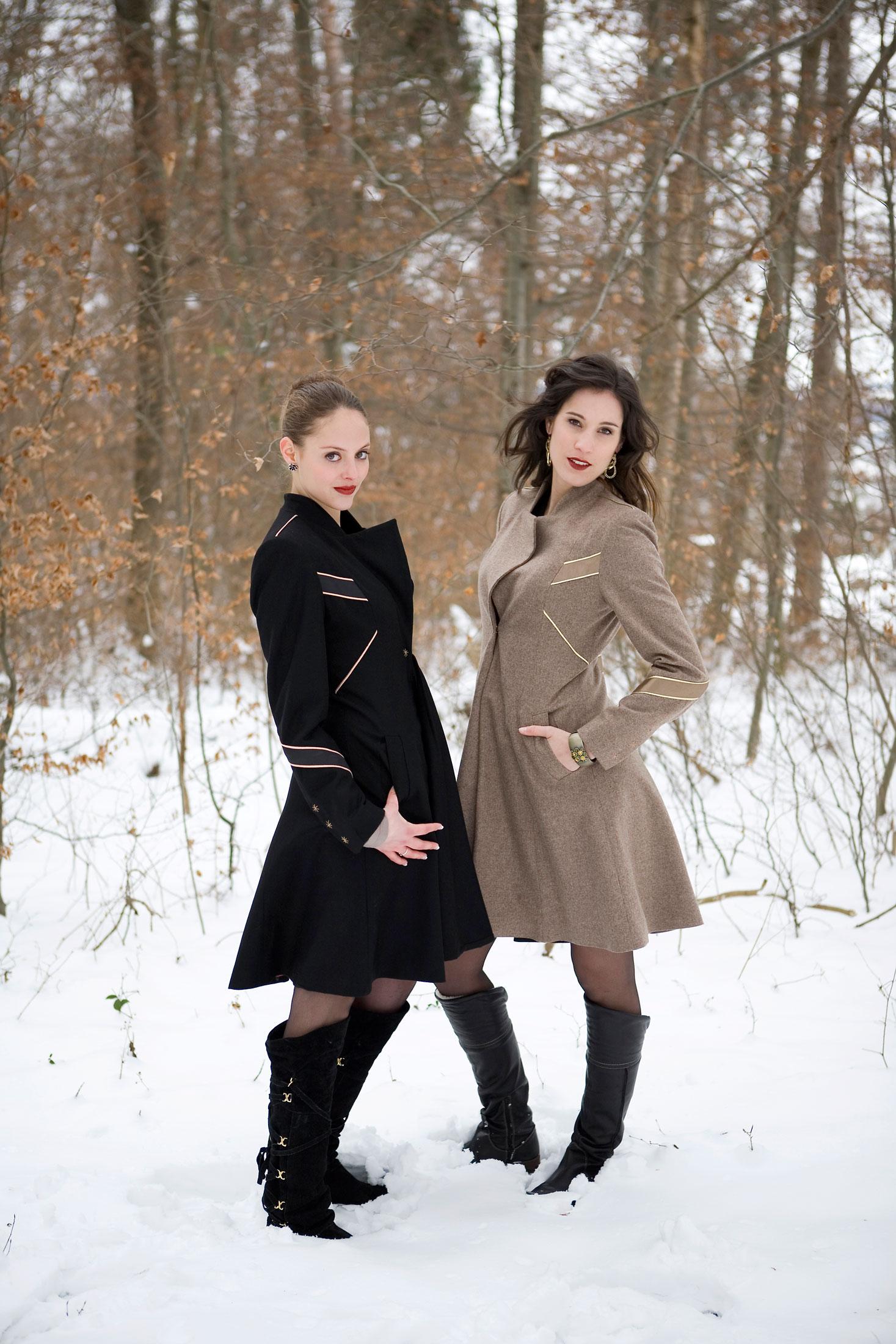 LOOK C.15 Jacke Merino Woll Beige Black Zurich Atelier Zurich Designer Clothes Boutique Zurich