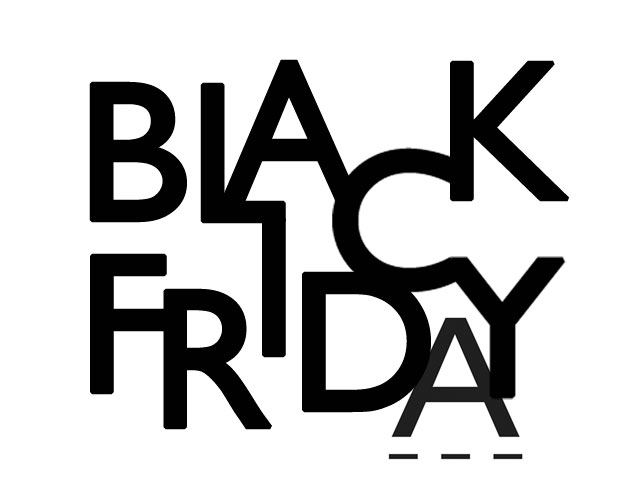 Black Friday 25 & 26 November 2016